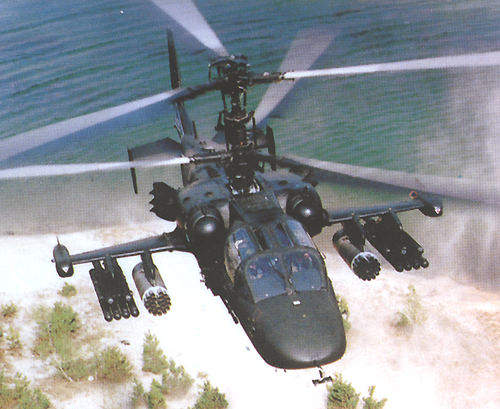 The Ka-52, the two-seater version of the Ka-50.