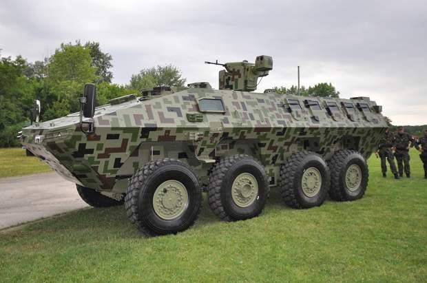 armoured 8x8 wheeled vehicle