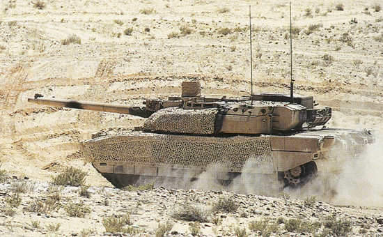 Leclerc Main Battle Tank on operation in Qatar
