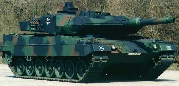 The Leopard 2 A5 main battle tank, as in use in Germany and in the Netherlands.