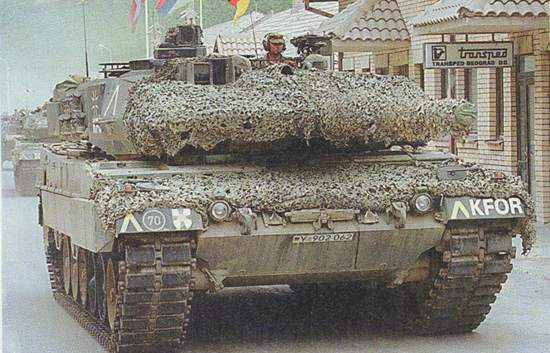 A German Leopard 2A5, part of KFOR.