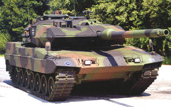 The latest version of the Leopard MBT is the Leopard 2 A6 EX.
