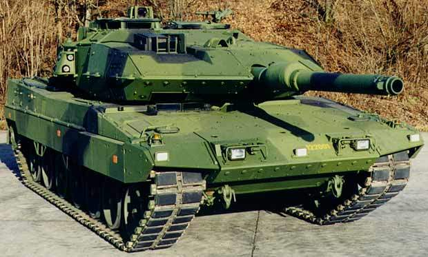 A Swedish MBT Leopard 2 Strv 122 tank.