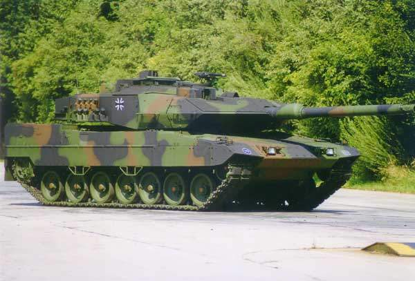The Leopard 2 A6 EX main battle tank.