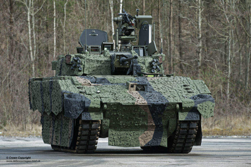 AJAX prototype army vehicle lightweight defence materials