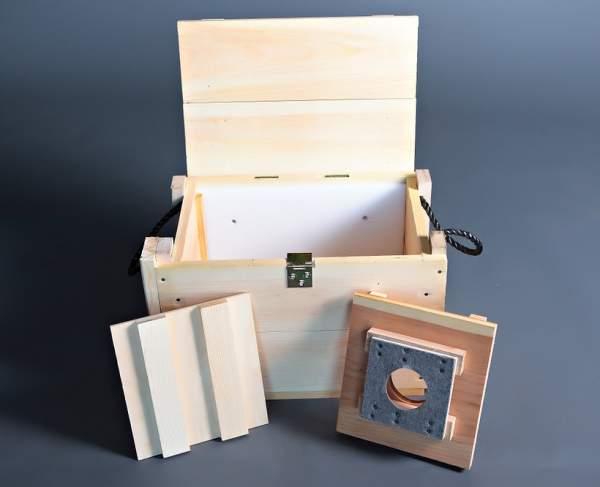 lockable wooden box