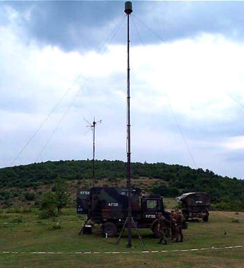 The LUNA control station set up by KFOR in Kosovo.