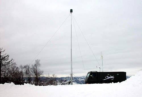 The ground control station installed into the DURO 6x6 armoured all-terrain vehicle used in Operation Strong Resolve.