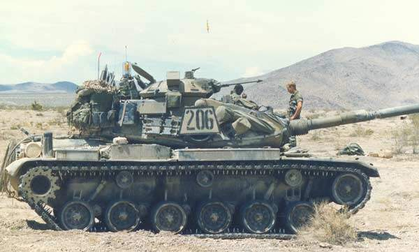 M60 Main Battle Tank During a Mission