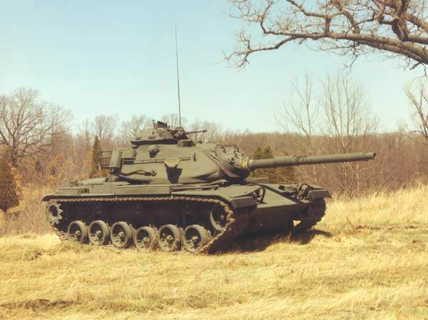 M60A3 Main Battle Tank Travelling up a Hill