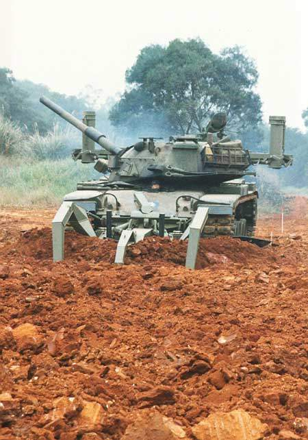 M60 Tanks's Mine Clearance System