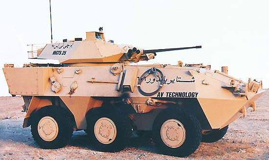 The Pandur Wheeled Armoured Vehicle