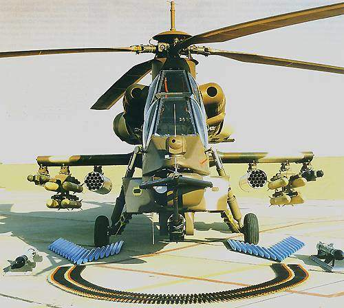 The Rooivalk Attack Helicopter supports a diverse range of weaponry including missiles, rockets, cannon and machine guns.