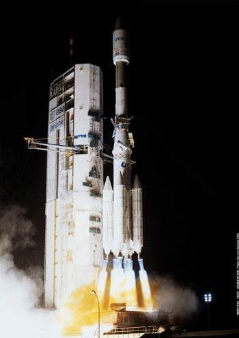 The Sicral satellite was launched on the same rocket as the UK's Skynet 4F.