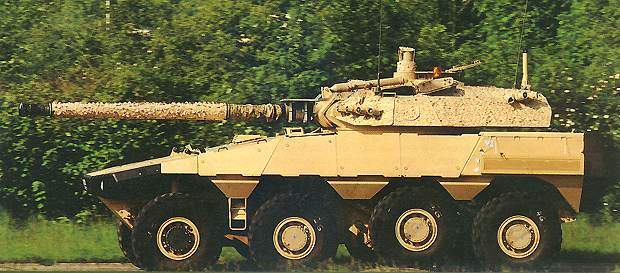 The new-generation Vextra 105 reconnaissance 8×8 vehicle.
