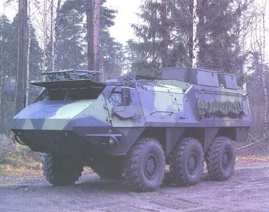 XA-202 armoured wheeled command vehicle.