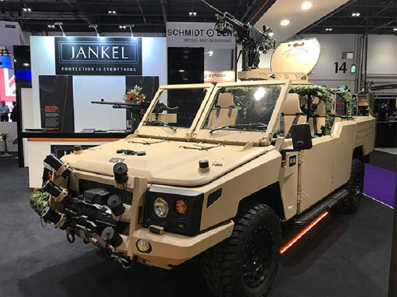 The Fox RRV-x was unveiled at DSEI 2017 exhibition. Image courtesy of Jankel Armouring Limited.
