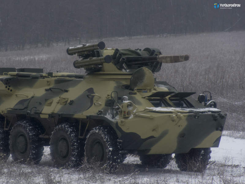 The vehicle can carry a maximum of nine personnel, including three crew members and six infantry troops. Credit: UkrOboronProm.