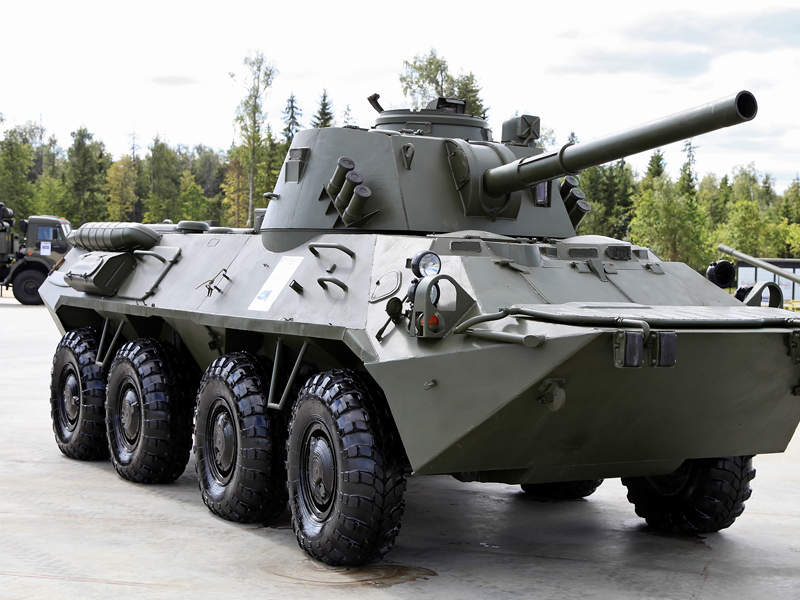 The BTR-80 chassis served as the basis for 2S23 Nona-SVK vehicle. Image courtesy of Vitaly V. Kuzmin.