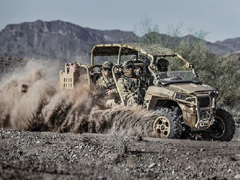 MRZR-D is being offered in two and four-seat configurations. Image courtesy of Polaris Industries, Inc.