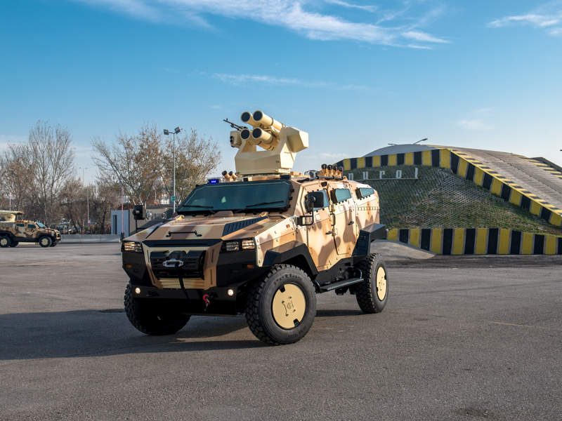 Nurol Makina unveiled NMS 4x4 armoured vehicle at IDEF 2017 held in Turkey. Image courtesy of Nurol Makina.