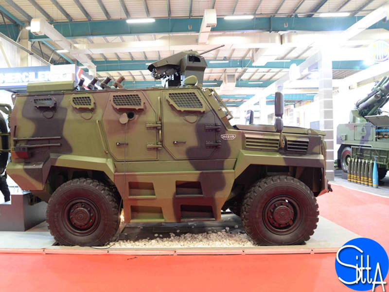 The HIZIR armoured vehicle can accommodate up to nine personnel. Image courtesy of Ministère des Armées.