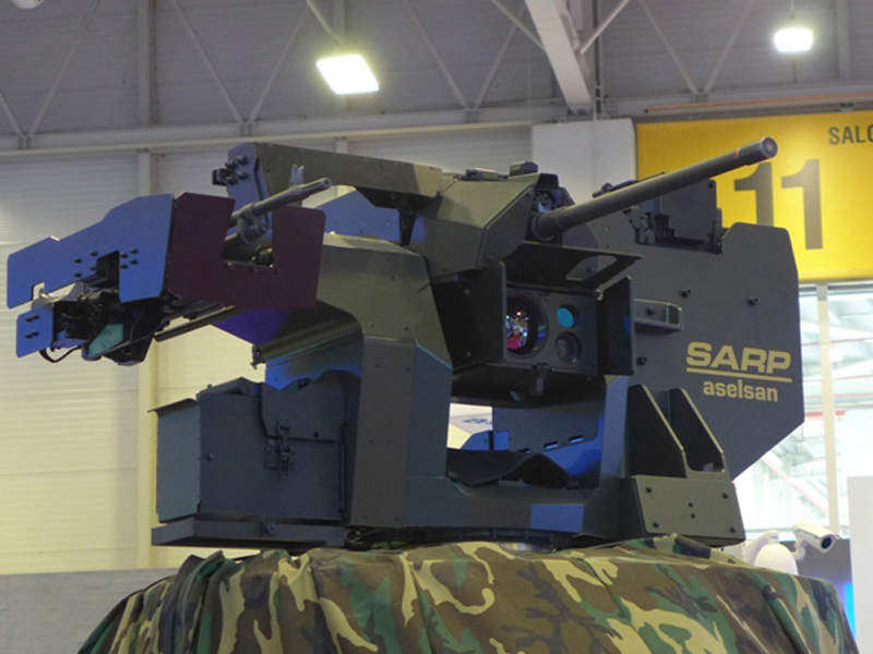 The HIZIR vehicle is equipped with Aselsan SARP remote weapon station. Image courtesy of Ministère des Armées.