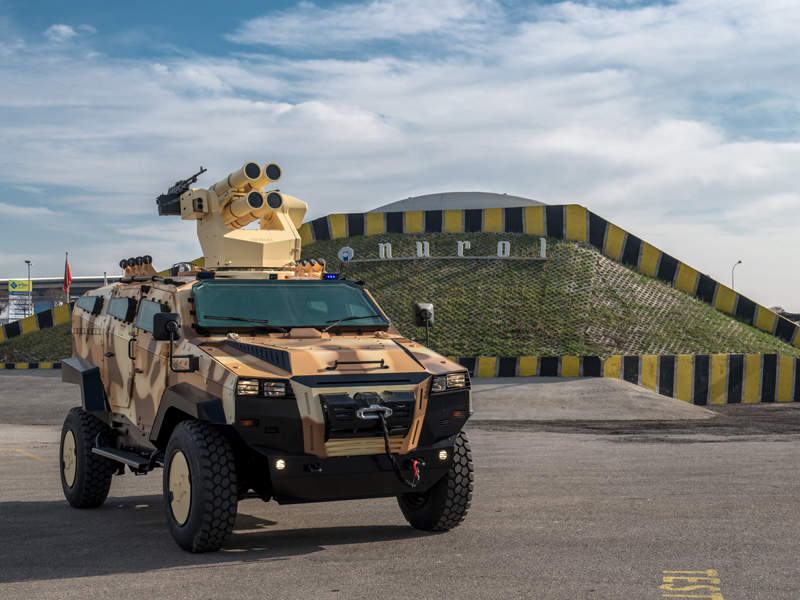 The 10t vehicle has the capacity to carry up to nine personnel. Image courtesy of Nurol Makina.