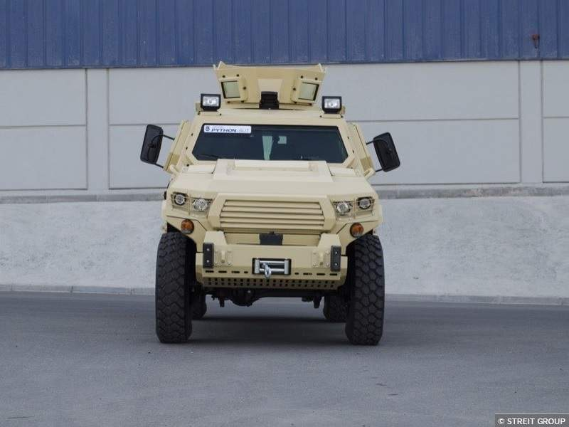STREIT Group unveiled Python support utility vehicle (SUT) in February 2018. Image courtesy of Streit Group.