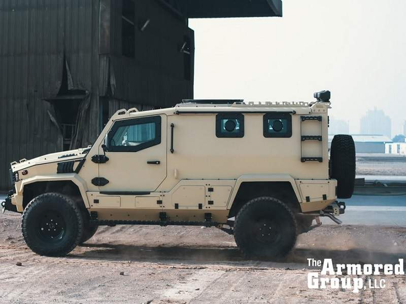 The Terrier LT-79 armoured vehicle is used in law enforcement and military operations. Image: courtesy of The Armored Group (TAG).