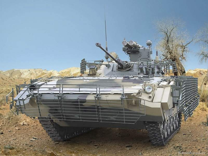 The IFV integrates Berezhok (B05S011) guided weapon system. Image courtesy of www.roe.ru.