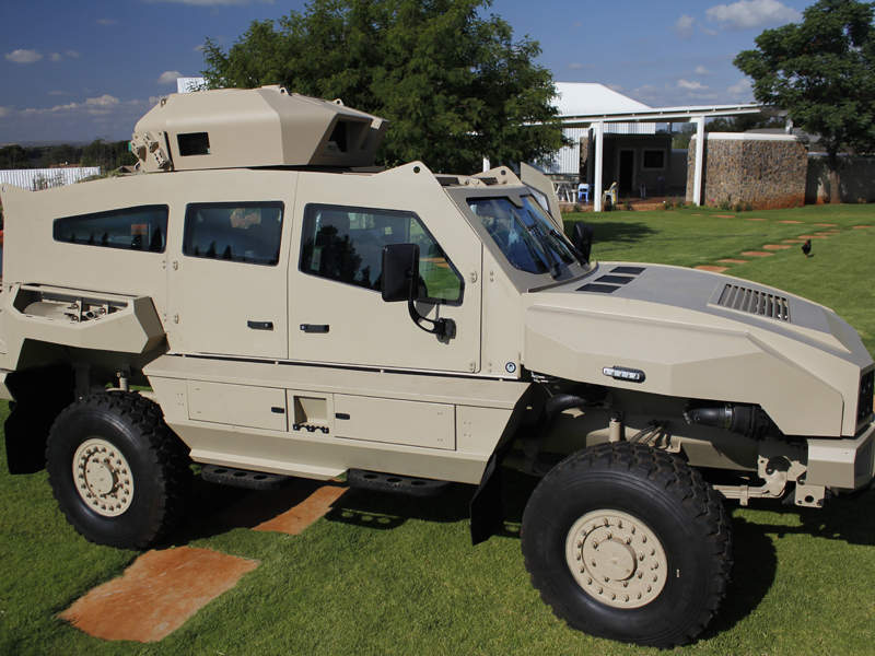 The MAX armoured personnel carrier is offered by South Africa-based SVI Engineering. Image courtesy of Special Vehicle Industries (SVI) Engineering.