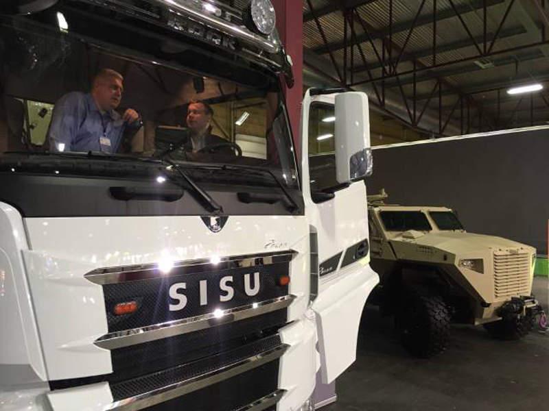 The vehicle weighs approximately 14,000kg. Image courtesy of Sisu Defence.