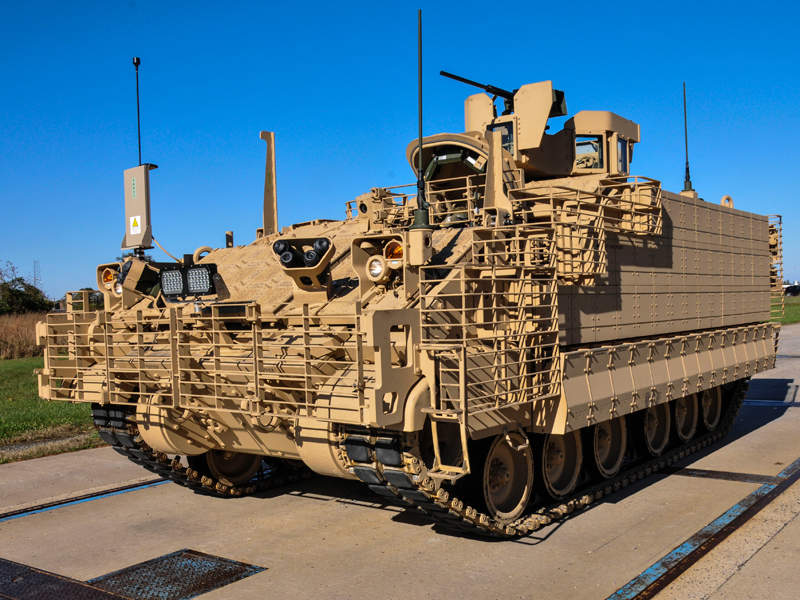 The US Army took delivery of the first prototype of the AMPV in December 2016. Image courtesy of BAE Systems.