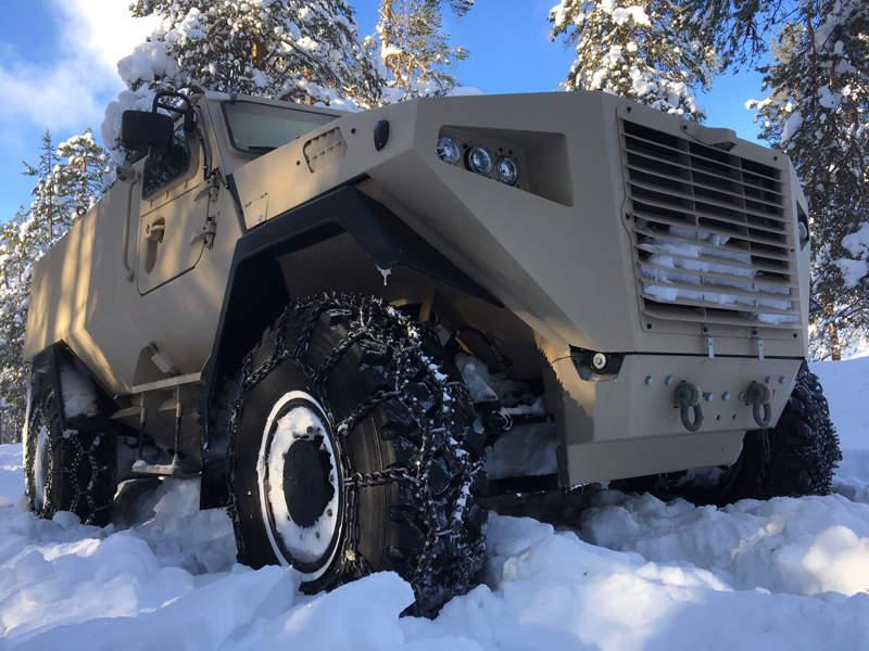 The maximum speed of the Sisu GTP 4x4 vehicle is 100km/h. Image courtesy of Sisu Defence.