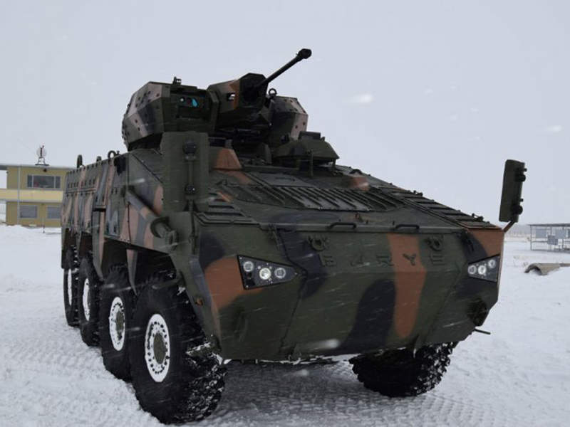 Combat weight of the Barys 8x8 vehicle is 28,000kg. Image courtesy of Kazakhstan Paramount Engineering.