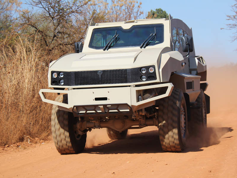 The vehicle can accommodate eight personnel. Image courtesy of Special Vehicle Industries (SVI) Engineering.