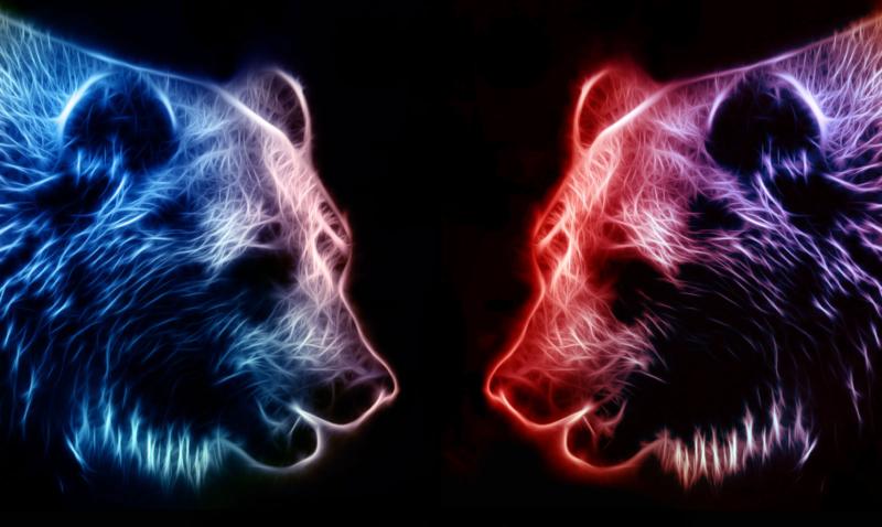 russia america bear heads