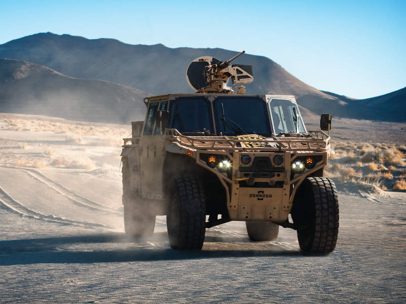 The maximum speed of the S-ATV is 145km/h. Image courtesy of Oshkosh Defence.
