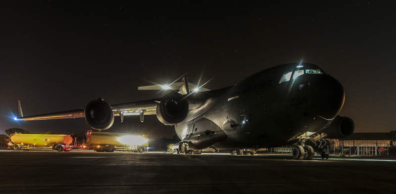 RAF C17 Carrying Humanitarian Aid for Northern Iraq