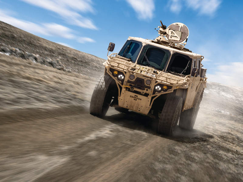 The S-ATV features Oshkosh Tak-4i intelligent independent suspension system. Image courtesy of Oshkosh Defence.
