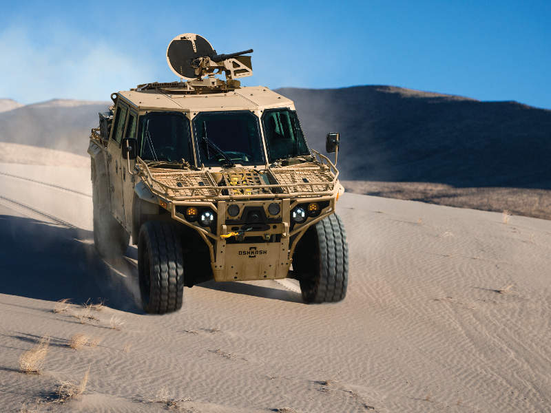 The payload carrying capacity of the vehicle is 1,930kg. Image courtesy of Oshkosh Defence.
