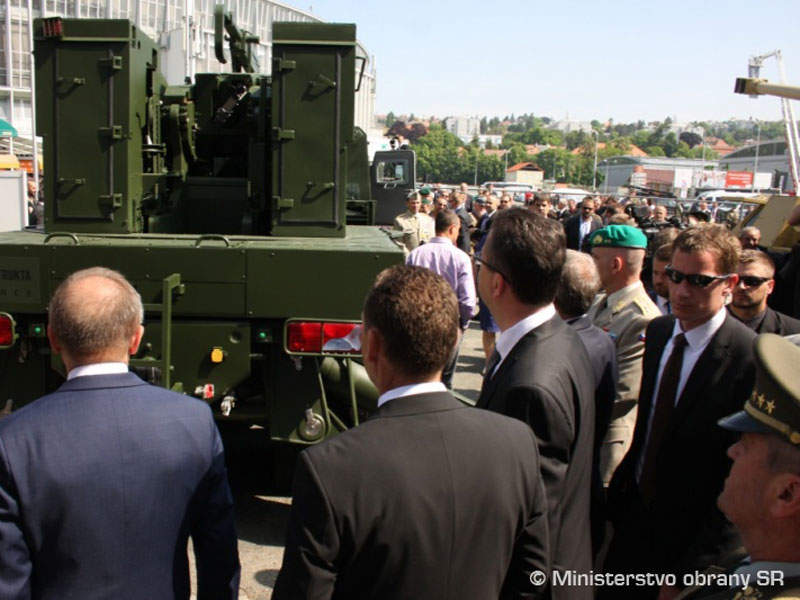 The EVA 155mm artillery system is jointly developed by Konštrukta Defence, Excalibur Army and Tatra. Image courtesy of Ministry of Defense of Slovak Republic.