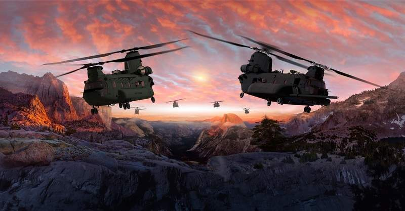 CH-47F Chinook helicopters