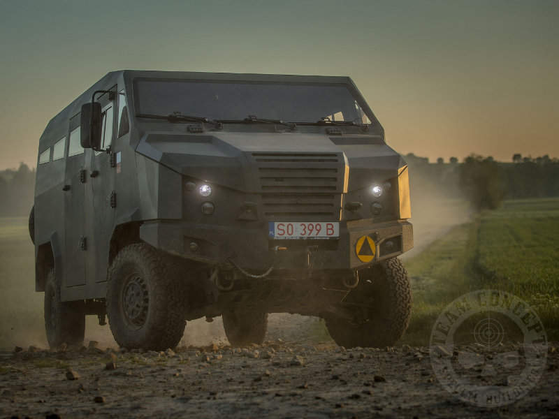 Team Concept launched Dino 319 light tactical multi-purpose vehicle (LTMPV) at Eurosatory 2018. Image courtesy of Team Concept.