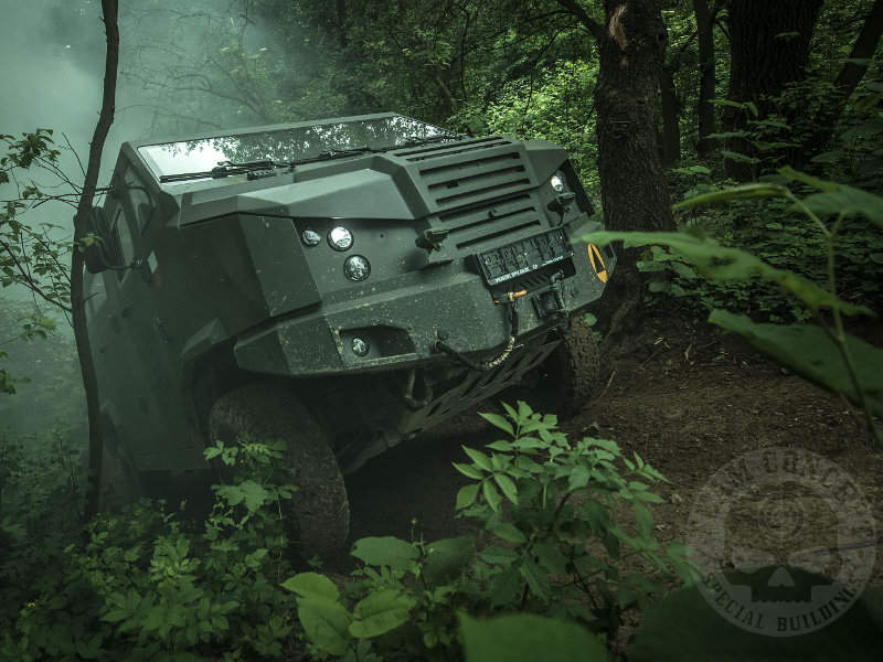 The vehicle accommodates two crew and seven troops. Image courtesy of Team Concept.
