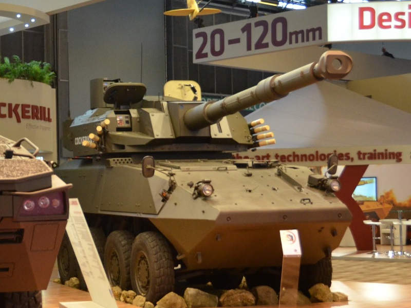 TULPAR Light Tank is fitted with a CMI Cockerill 3105 turret. Image courtesy of CMI Group.