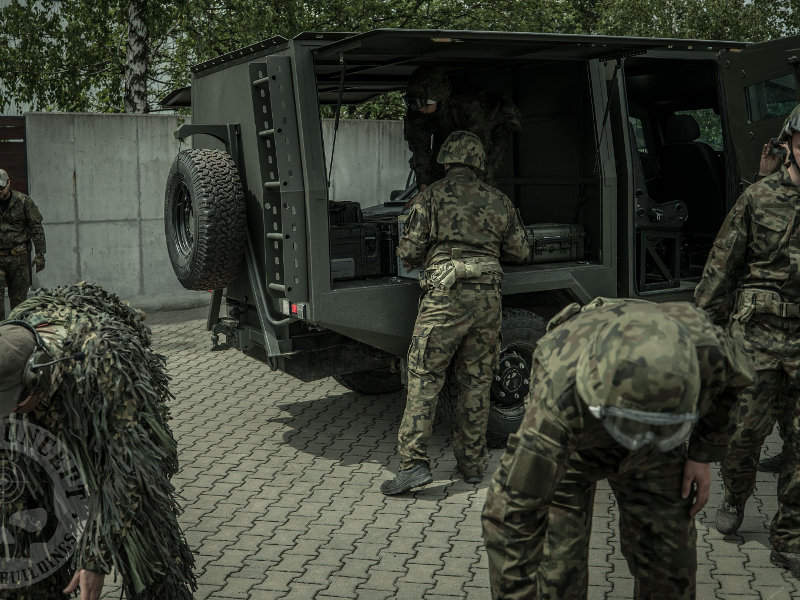 The armoured vehicle is fitted with multiple weapon mounts. Image courtesy of Team Concept.