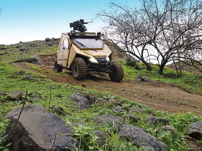 Plasan Yagu is a new ultralight tactical armoured vehicle being offered by Plasan. Image courtesy of Plasan.