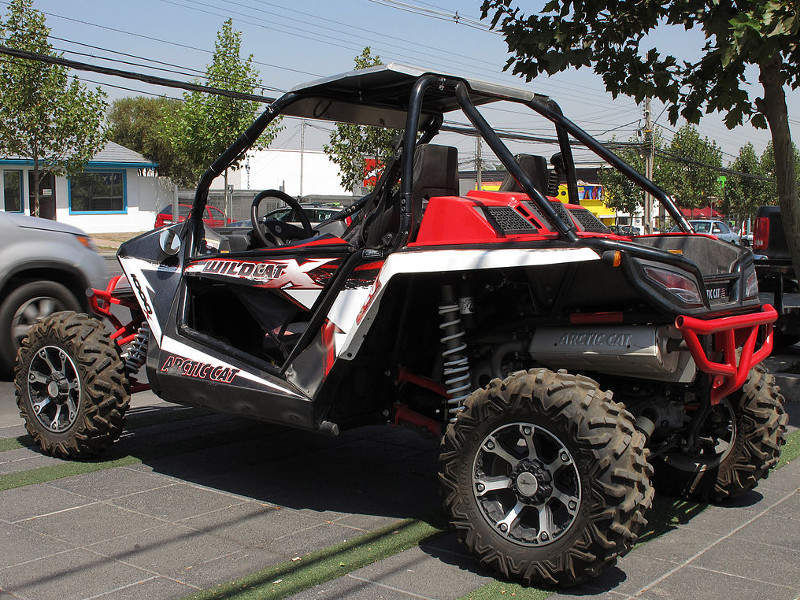 Yagu is based on the chassis of Arctic Cat Wildcat 4 1000 recreational off-highway vehicle (ROV). Image courtesy of RL GNZLZ.